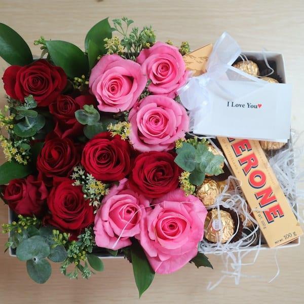 Roses And Chocolates Box Flower Gift Korea 160 5 Star