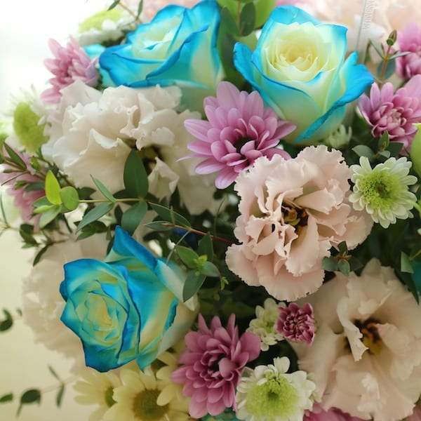 Flower Gift Korea Blue Delight Flower Deliver around Seoul South and other areas of South Korea