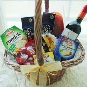 Flower Gift Korea Wine Hamper Set