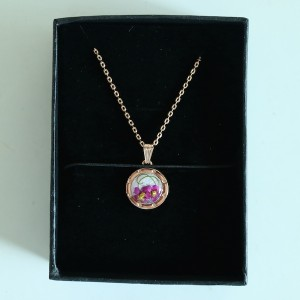 Elegant Flower Gift Seoul Korea Necklace Gift