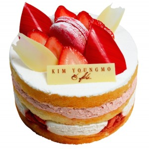 Flower Delivery Seoul Strawberry Yogurt Cake 60