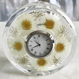 Flower Clock Gift handmade in Korea