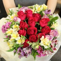 Flower Delivery Korea Rose Center Bouquet