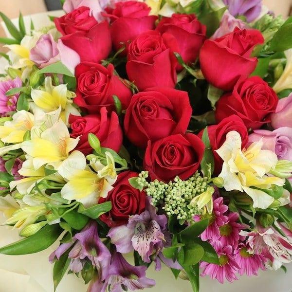 Flower Delivery Seoul Rose Center Flower Bouquet