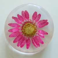Flower GIft Korea Flower Art Magnet Pink