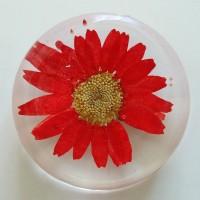 Flower GIft Korea Flower Art Magnet Red
