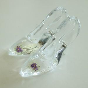 Flower Gift Korea Glass Flower Art Shoe Design