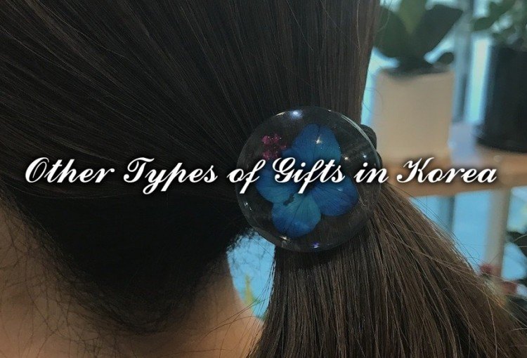 Real Flower Hair Tie Art with Flower Gift Korea