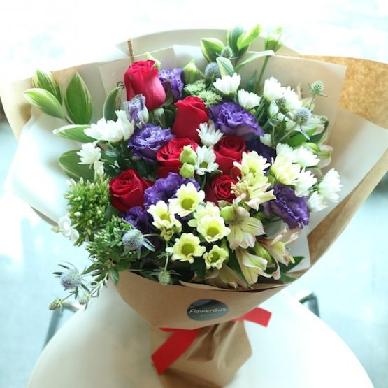 Flower bouquet delivery to South Korea