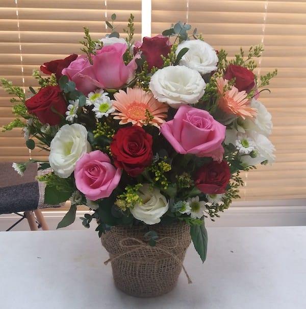 Fgks flower basket of the day medium flower gift korea 350 5 zoom images mightylinksfo
