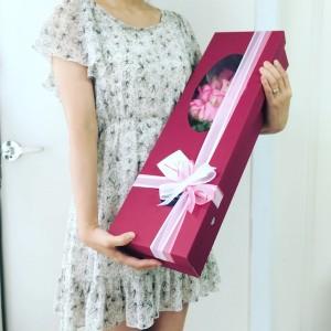 Flower Gift Korea Long Stem Roses Box 20 Roses from Korea