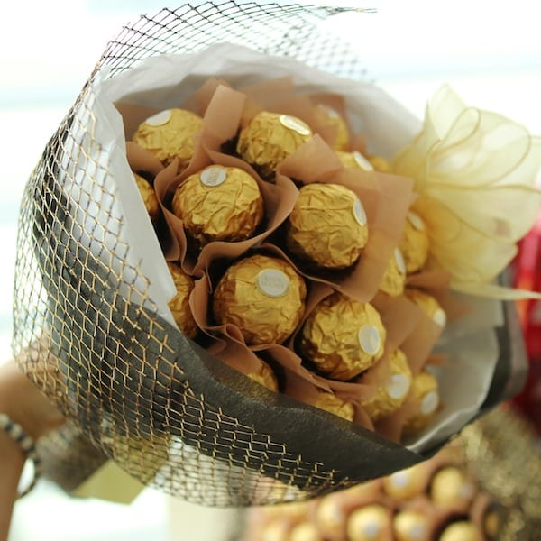 Chocolate bouquet a flower gift korea 350 5 star reviews same flower gift korea chocolate bouquet zoom images negle Images