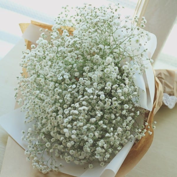 Large babys breath bouquet flower gift korea 330 5 star zoom images mightylinksfo