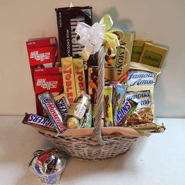 Chocolate basket b flower gift korea star