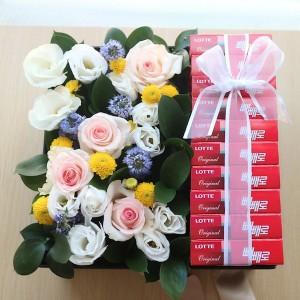 Flower Gift Korea Chocolate Pepero Box Main