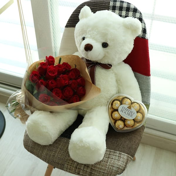 Flowers, Teddy Bear and Chocolates to Seoul South Korea