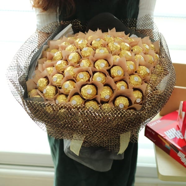 Chocolate Bouquet Special 100 - Flower Gift Korea - 330+ 5 Star ...