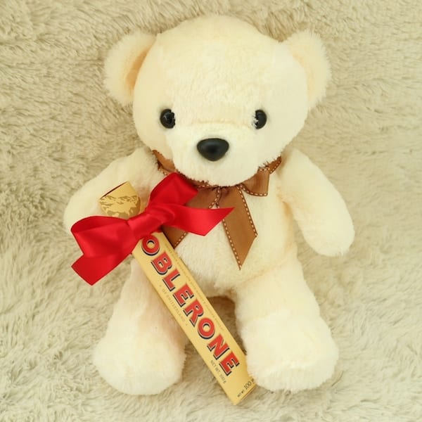 Teddy Bear and Toblerone Gift Set - Flower Gift Korea - 330+ 5 Star ...
