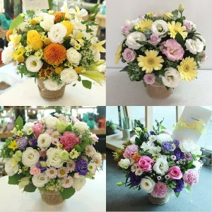 Flower Basket of the day same day delivery Monday to Saturday in Korea