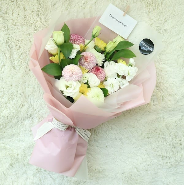 Pom Poms and Gerbera Flower Bouquet - Flower Gift Korea - 350+ 5 ...