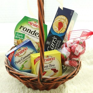 Flower Gift Shop Korea Cheese and Cracker Basket A