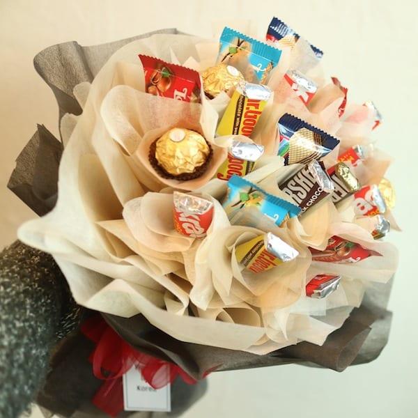 Chocolate Bouquet B - Flower Gift Korea - 330+ 5 Star Reviews, Same ...