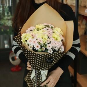 Korea Flower Shop Mixed Chyrsanthemum Bouquet Main