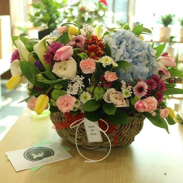 Superstar flower gift korea 350 5 star reviews same day flower flower gift korea superstar flower basket mightylinksfo