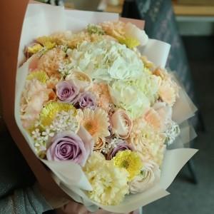Flower Gift Shop Pastel Flower Bouquet 1