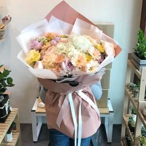 Pastel Flower Bouquet Korea Extra Large