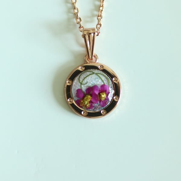 Flower Gift Korea Elegant Necklace Flower Art Gift B