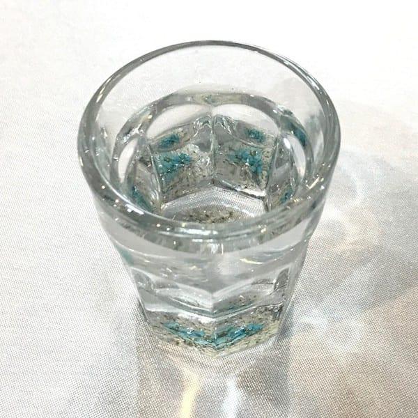 Flower Gift Korea Hand made soju glass tilted view