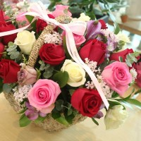Flower Shop Korea Gift Large Mixed Rose Basket