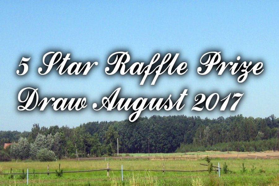 5 Star Raffle Prize Draw August 2017