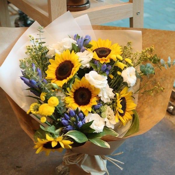 Sunflower Smile Bouquet - Flower Gift Korea - 350+ 5 Star Reviews ...